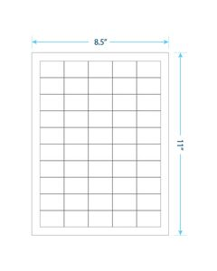 "1.5"" x 1""  Laser/Inkjet Labels; 50 up; (100 sheets/box) - Standard White Matte"
