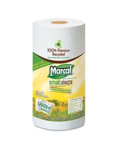 100% Premium Recycled Roll Towels Roll Out Case, 140 Sheets/RL, 11 x 5-3/4,12/CT