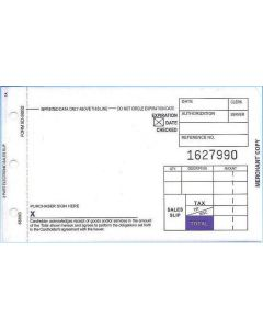 "2-Part SHORT (3 1/4"" x 5 11/32"") Sales Imprinter Slips (100 slips/pack)"