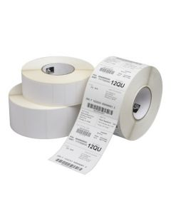 """2"""" x 1.25""""  Zebra Thermal Transfer Z-Ultimate 4000T White Polyester Label;  0.75"""" Core;  520 Labels/roll;  12 Rolls/carton"""