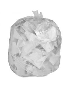 "24"" x 24"" - 6 micron Trash Bags (1,000 bags/case) - Clear"