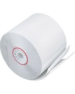 "3"" x 90' 2-Ply Carbonless Paper (50 rolls/case) - White / White"