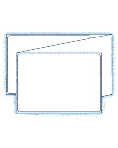 """4"""" x 6""""  7 pt. Thermal Transfer C1S Tag Stock Paper Tag;  Fanfolded;  4 Stacks/case;  1000 Labels/stack"""