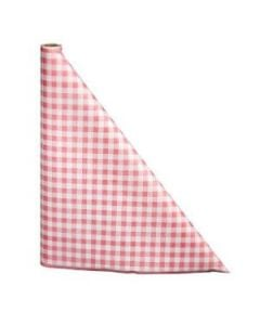 "40"" x 100'  Paper Table Cover (1 roll) - Red / White Gingham"