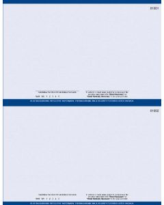 """8 1/2"""" x 11"""" - 2 up Laser Rx Paper, Horizontal Perf with DE specs (500 sheets/package) - Blue"""