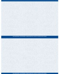 """8 1/2"""" x 11"""" - 2 up Laser Rx Paper (500 sheets/package) Horizontal Perf - Blue"""