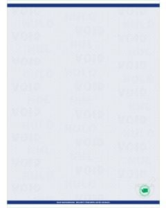 """8 1/2"""" x 11"""" - 1 up Laser Rx Paper with WA specs (500 sheets/package) - Blue"""