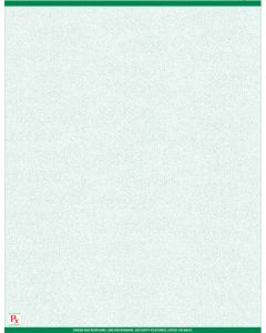"""8 1/2"""" x 11"""" - 1 up Laser Rx Paper (500 sheets/package) No Perforation - Green"""