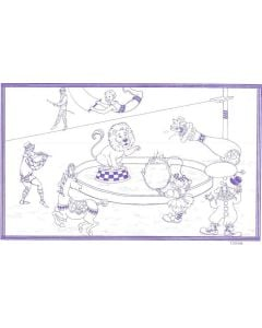 "8 1/2"" x 14"" Restaurant Coloring Sheets (500 per pack) - Circus Theme"