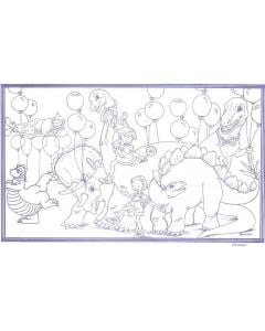 "8 1/2"" x 14"" Restaurant Coloring Sheets (500 per pack) - Dinosaur Theme"