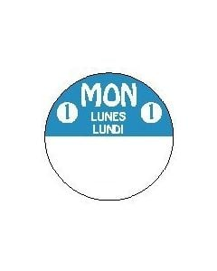 814211-3FG Monday Trilingual 1 Inch Cirlcle 3 Roll Pack-REMOVX   *Clearance Item*