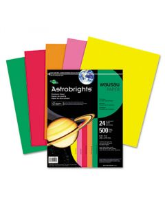 Wausau Astrobrights Colored Paper, 24lb, 8-1/2 x 11, Assortment, 500 Sheets/Ream