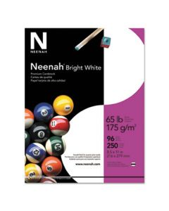 Neenah Bright White Card Stock, 65 lbs., 8-1/2 x 11, 250 Sheets/Pack