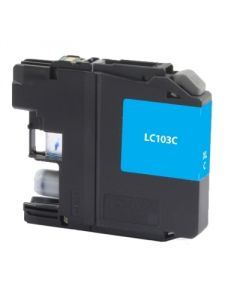 Brother LC103C Compatible Inkjet Cartridge (600 page yield) - Cyan