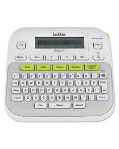 Brother P Touch Label Maker, PTD210 Easy, Compact, Hand Held, 2 Lines
