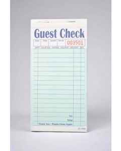 2-Part Green Carbonless Guest Checks (2,500 checks/case) - G7000