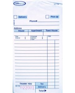 3-Part Carbonless Guest Checks (2,500 checks/case) - 11A-SP
