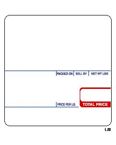 CAS (58mm x 60mm) UPC, Ingredient Scale Labels (6000 labels/case) - CAS 8020