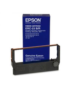 Epson ERC 23 & Verifone 250/500 Printer Ribbons (6 per box) - Black/Red