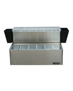 EZ-Chill Ultimate Garnish Center - (3) 1 Qt, (12) 1 Pt, (2) Caddies & Ice Liners