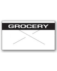 """Garvey GX1812 Pricing Labels (1 Case = 20 sleeves @ 14,025 labels/sleeve = 280,500 labels) - White/Black - """"Grocery"""""""