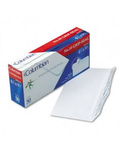 Grip-Seal Business Envelopes,Side Seam, #10, White Wove, 50/Box