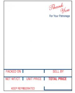 """Hobart SP-80; SP-1500 (2.25"""" x 3"""") Style K Bakery, Deli Scale Labels (12,000 labels/case)"""