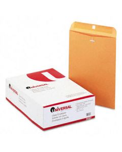 Kraft Clasp Envelope, Side Seam, 28lb, 10 x 13, Light Brown, 100/Box