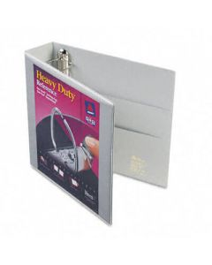 """Nonstick Heavy-Duty EZD Reference View Binder, 2"""" Capacity, Gray"""