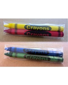 2-Pack Premium Cello Crayons (1,000 packs/case)