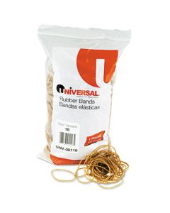 Rubber Bands, Size 16, 2-1/2 x 1/16, 1900 Bands/1lb Pack