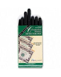 Smart Money Counterfeit Bill Detector Pen for use with U.S. Currency, Dozen