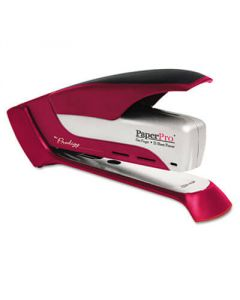 Accentra Spring Powered Stapler, 25-Sheet Capacity, Red/Silver