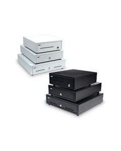 """Star Micronics Cash Drawer, 13"""" W x 13"""" D, Printer Driven, 4 Bills / 5 Coins, 2 Media Slots, Cable Included - Black"""