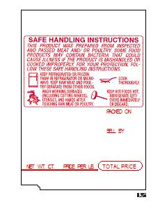 TEC SL 66, SL-6600 (48mm x 69mm) Safe Handling Scale Labels (6,400 labels/case)