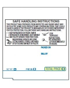 TEC SL-9000 (57mm x 63.5mm) UPC, Safe Handling Scale Labels (7,200 labels/case)