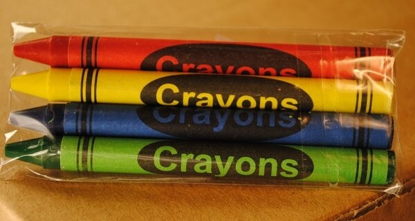 4-Pack Premium Cello Crayons (125 Packs of 4 each = 500 crayons/case)